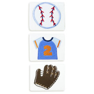 Baby Essentials Baseball 3 Pack Burps