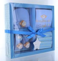 Nursery Rhyme 4 Piece Layette Boys Gift Set