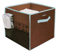 Samsonite Vanderbilt Home Collection Collapsible Storage Bin, Brown/Aqua