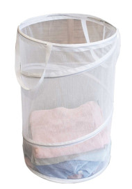 Samsonite Micro Mesh Spiral Pop up Hamper, White