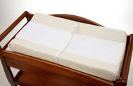 NoJo 2 Pack Dot Changing Table Cover - Ivory with Snow Dots