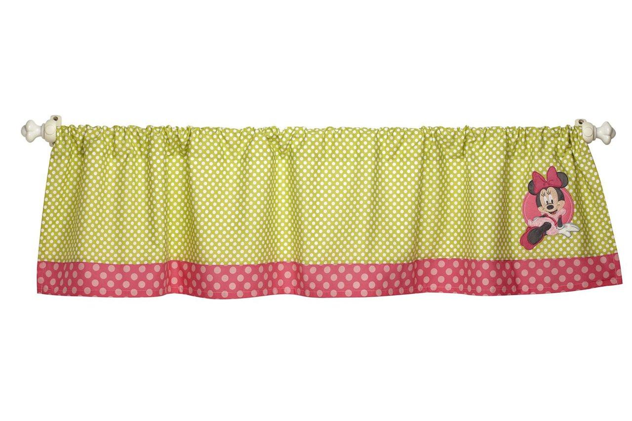 "9 Cube Kids Pink White Toy Games Storage Unit Girls Boys: Disney Minnie Mouse ""Petals Perfect"" Window Valance"