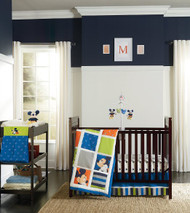 Disney Mickey 4 Piece Crib Bedding Set, Go Mickey