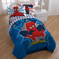 Marvel Comics Spiderman Twin-Full Comforter Bold Spider-Man Bedding