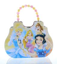 Disney Princess Purse Shaped Tin Box With Beaded Handle-Yellow (Satchel)