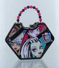 Monster High Purse Shaped Tin Box With Beaded Handle-Black