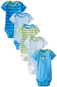 Gerber Baby Boys' Five-Pack Variety Bodysuits (6-9 mos.)