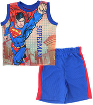 "Superman Boys' ""Flying Hero"" 2-Piece Muscle Top & Shorts Set (5)"