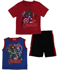 "Avengers Little Boys' ""Heroes Unite"" 3-Piece Outfit (6)"
