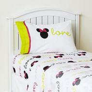 Disney Minnie Mouse Neon Full Sheet Set