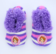 Disney Sofia the First Girls Slipper Socks Shoe Size 9-3