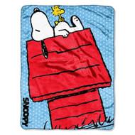 Peanut's Snoopy 46x 60 Micro Raschel Throw - by The Northwest Co.