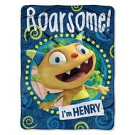 Disney's Henry Hugglemonster 46x 60 Micro Raschel Throw