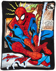 "Marvel The Ultimate Spiderman Origins Super Plush Throw 46""x60"" (117cm x 152cm )"