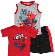 "Marvel Spiderman Boys' ""Spidey"" 3-Piece T-Shirt, Tank & Shorts Set (Size 7)"