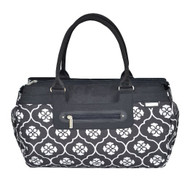JJ Cole Parker Diaper Bag, Black Floret