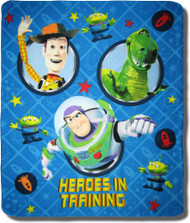 Disney Toy Story Buzz Lightyear Woody Fleece Throw Blanket