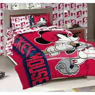 Los Angeles Angels MLB and Disney Mickey Mouse Twin Sized Comforter with Sham set