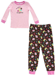 Tender Kisses Infant / Toddler Girls Pajama T-Shirt & Pants Set- 100% Cotton - Mommy's Little Owl (24 Months)