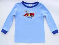 Tender Kisses Infant / Toddler Boys Pajama T-Shirt & Pants Set- 100% Cotton - Little Champ (18 Months)