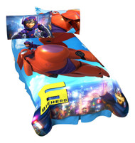 Disney Big Hero 6-Jet Blast Micro Raschel Blanket, 62 by 90-Inch