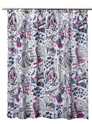 Monster High Fabric Shower Curtain 70 in x 72 in
