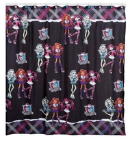 Monster High Fabric Shower Curtain