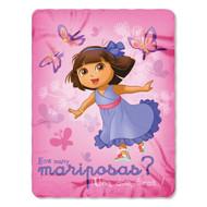 "Nickelodeon Dora the Explorer ""Butterfly Dances"" Plush Fleece Throw Blanket 46""x60"""