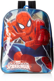 Fast Forward Little Boys' Blue Spiderman Backpack, One Size