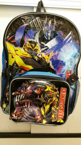 Transformers 16 inch Backpack with Lunch Box
