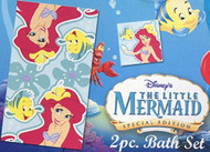 Disney The Little Mermaid Ariel Fiber Reactive Print 2-Piece Bath/Wash Set