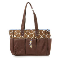 Baby Boom Giraffe Tote Diaper Bag - Brown