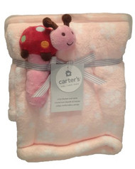 Carter's Printed Boa Blanket with Rattle - Ladybug
