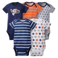 Gerber Baby Boys' 5pk Sports Bodysuits (Onesies) - Varsity Jr (6-9 Months)