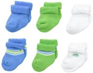 Gerber Baby Boys 6 Pack Variety Socks, Car and Stripe, 6-9 Months