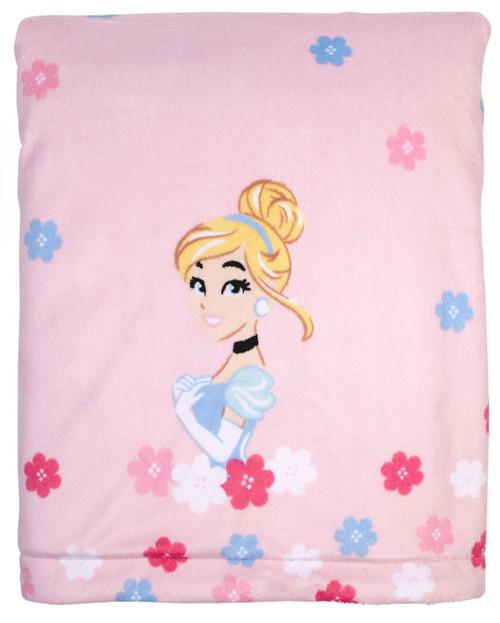 disney princess cinderella velboa plush blanket w coral fleece back
