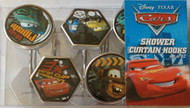 Disney Cars Pit Crew Resin Shower Curtain Hooks