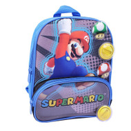 Mario 10 inch Mini Backpack with VELCRO® brand closure Play Pieces