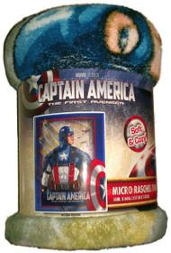Captain America Micro Raschel Throw Blanket The First Avenger