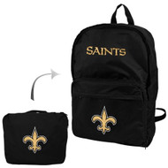 New Orleans Saints Foldaway Backpack - Black
