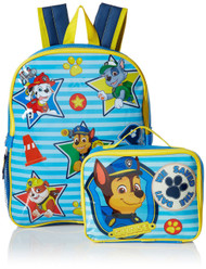 "Paw Patrol Big Boys We Save The Day 15"" Backpack with Lunch Kit"