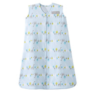 Halo SleepSack 100% Cotton Wearable Blanket, Linear print Jungle Blue, Small