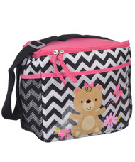"Tender Kisses ""Teddy Bear Zigzag"" Bottle Bag - black, one size"