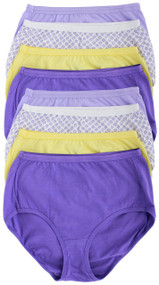 Hanes Women's Cotton Extended Size Brief Panty - (Pack of 8) (Large)