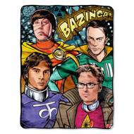 Warner Bros Big Bang Theory Coplay Micro Raschel Blanket, 46 by 60-Inch