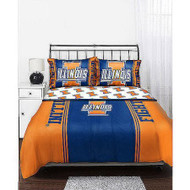 NCAA Illinois Fighting Illini Comforter and Sheets Set - Bed in a Bag (Queen Size)