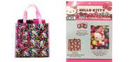 Hello Kitty Jewel Tote Bag, Throw Fleece Blanket and Eye Mask 3 pc Set