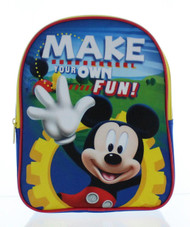 "Mickey Mouse Clubhouse 10"" Toddler Backpack - Make Your Own Fun!"