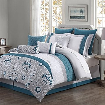 Chloe 10-piece Reversible Comforter Set (Queen)