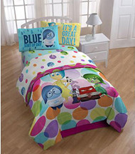 Disney Pixar Inside Out Dots Twin Bedding Sheet Set